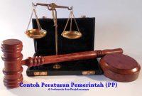 Contoh Peraturan Pemerintah (PP) di Indonesia
