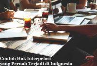 Kasus Tentang Hak Interpelasi