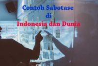 Contoh Sabotase di Indonesia